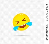 happy emoji icon. laughing... | Shutterstock .eps vector #1897125475