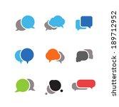 abstract speech clouds. ready...   Shutterstock .eps vector #189712952