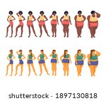changing the shape of a woman's ...   Shutterstock .eps vector #1897130818
