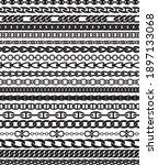 twenty chain pattern brushes... | Shutterstock .eps vector #1897133068