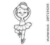 cute ballerina girl dancing in...   Shutterstock .eps vector #1897154245