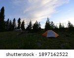 Landscape View Of A Tent At A...
