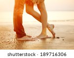 Legs On Beach. Foot Spa. A...
