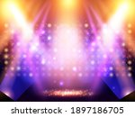 mosaic background with blue and ... | Shutterstock .eps vector #1897186705