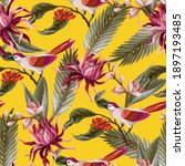 seamless pattern with birds and ...   Shutterstock .eps vector #1897193485