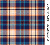 Colorful Plaid Pattern In Blue  ...