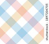 buffalo check pattern in pastel ... | Shutterstock .eps vector #1897204705