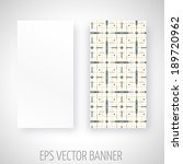 vector banner with geometric... | Shutterstock .eps vector #189720962