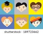 face cartoon vector   heart...   Shutterstock .eps vector #189723662