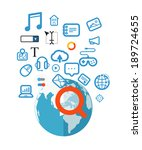 searching information concept... | Shutterstock .eps vector #189724655