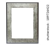 metallic picture frame isolated ... | Shutterstock . vector #189726422