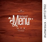 restaurant menu design | Shutterstock .eps vector #189727502
