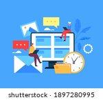 people using internet... | Shutterstock .eps vector #1897280995