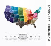 united states map infographic... | Shutterstock .eps vector #189730106