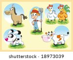 farm family | Shutterstock .eps vector #18973039