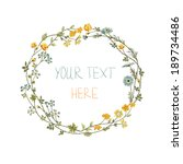 Vector Floral Frame With Yello...