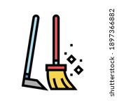 broom and scoop color icon...   Shutterstock .eps vector #1897366882