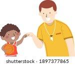 illustration of a kid boy... | Shutterstock .eps vector #1897377865