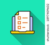online education icon. simple... | Shutterstock .eps vector #1897409602