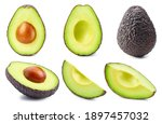Set Of Avocado Isolated On A...