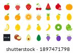 set of vector flat color icons. ... | Shutterstock .eps vector #1897471798