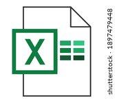 modern flat design of logo xls...   Shutterstock .eps vector #1897479448