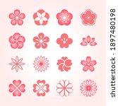 flower icon set. japanese style ...   Shutterstock .eps vector #1897480198