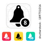 ringing bell with number icon....