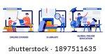 online courses  e library ... | Shutterstock .eps vector #1897511635