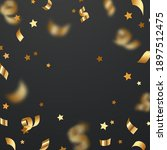 vector gold scattered confetti  ... | Shutterstock .eps vector #1897512475