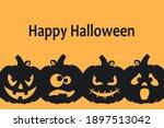 happy halloween background... | Shutterstock .eps vector #1897513042