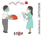 valentine's day card in new...   Shutterstock .eps vector #1897523038