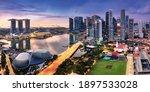 Panorama Of Singapore City...
