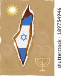 independence day israel the... | Shutterstock .eps vector #189754946