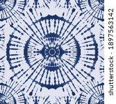 navy blue tie dye seamless... | Shutterstock .eps vector #1897563142