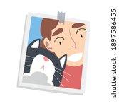photographic print or selfie... | Shutterstock .eps vector #1897586455