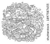 nepal hand drawn cartoon... | Shutterstock .eps vector #1897587655