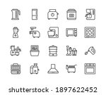 kitchen appliances line icon... | Shutterstock .eps vector #1897622452