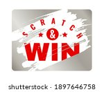 scratch cards. lottery square... | Shutterstock .eps vector #1897646758