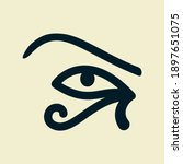 eye of the sun ra. horus.... | Shutterstock .eps vector #1897651075