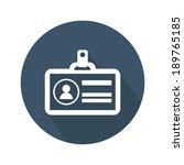 identification card icon.... | Shutterstock .eps vector #189765185