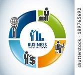 business design over gray... | Shutterstock .eps vector #189765692