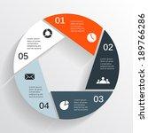 modern vector info graphic for... | Shutterstock .eps vector #189766286