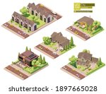 vector isometric buildings and... | Shutterstock .eps vector #1897665028