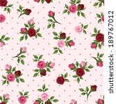 vintage seamless pattern with... | Shutterstock .eps vector #189767012