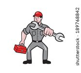 illustration of a mechanic... | Shutterstock . vector #189768842