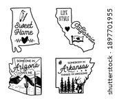 us states line art logo designs ...   Shutterstock .eps vector #1897701955