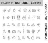 school  education icon line set.... | Shutterstock .eps vector #1897713055