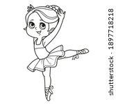 cute cartoon little ballerina... | Shutterstock .eps vector #1897718218