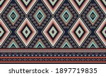 geometric ethnic pattern... | Shutterstock .eps vector #1897719835